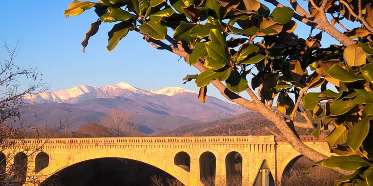 View of the Canigou from Céret