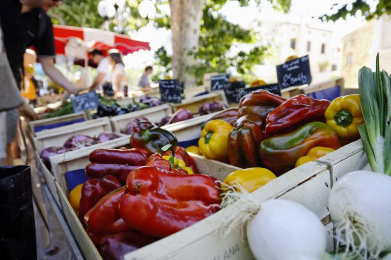 Le jour de marché à Collioure (dimanche et mercredi matin)