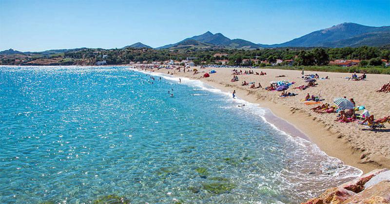 La plage à Argelès-sur-Mer